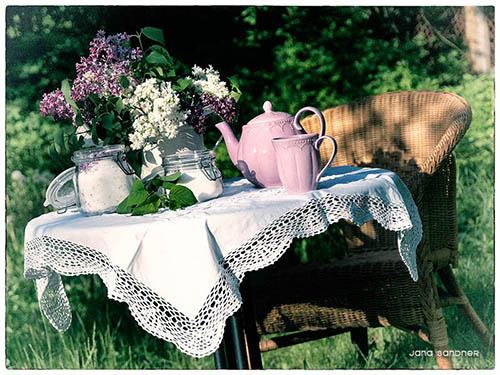 Hach, ist es nicht schön, an warmen Sonnentagen im Garten zu sitzen und Tee zu trinken?